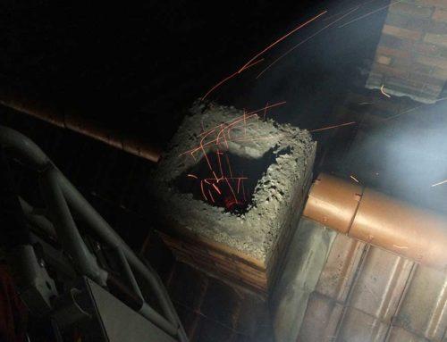 Kaminbrand – Wenn es aus dem Kamin brennt